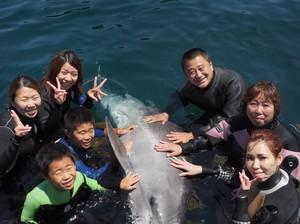 イルカと集合写真